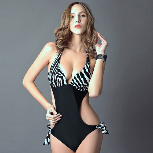Hot One Piece Swimsuit Women Summer Style Plus Size Swimwear Womens Black Bathing Suit 2015 Sexy One Piece Swim Suits Biquini(China (Mainland))