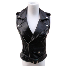 Hot Sale Genuine Leather brief paragraph ma3 jia3 Fashion European women casual locomotive Short Vest Coats 2016 Jackets (China (Mainland))