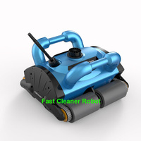 Remote Control Wall Climbing Function Automatic Swimming Pool Cleaner Robot 200 with Work Capacity for 200-400m2 Pool