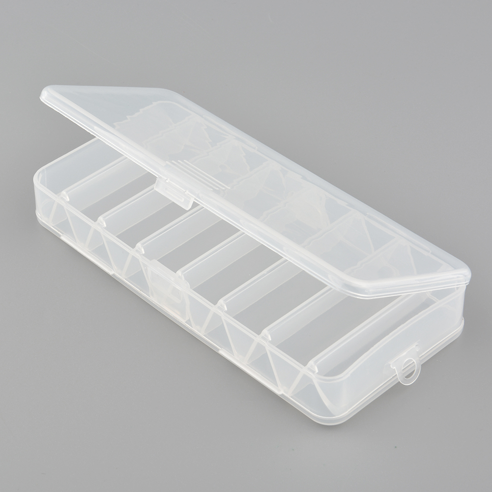 Fly Fishing Tackle Box Storage Tool Lures Hard Debris Cases 14 Compartments Double Sided Spinner Useful(China (Mainland))
