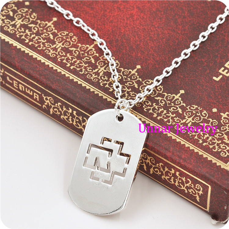 Free Shipping 2015 New Fashion Rock Band Rammstein Alloy Pendant Stainless Steel Necklace(China (Mainland))