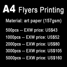 A4 flyers printing, print  A4  leaflets, paper printing, full color, print both sides(China (Mainland))