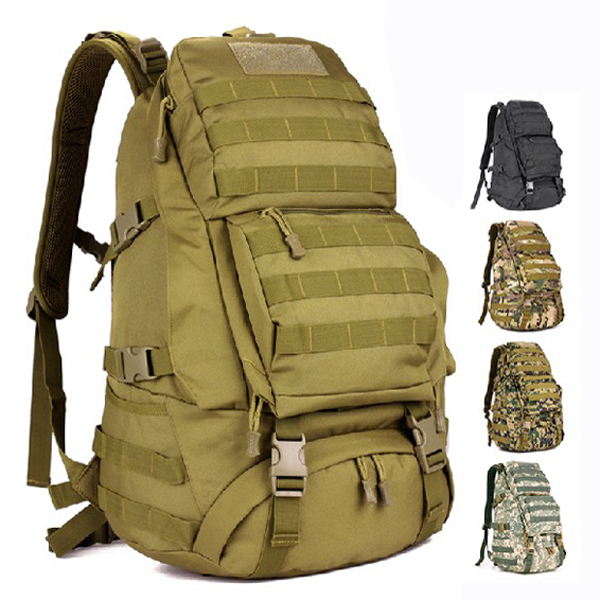 Big molle outdoor travel mountaineering climbing backpack mochila Military equipment waterproof nylon bag for men Free shipping(China (Mainland))