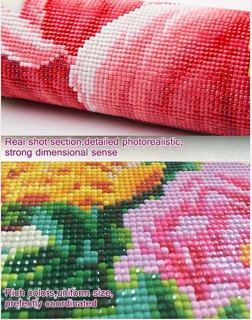 3d Diy Diamond Painting Crystal Animal Needlework Embroidery