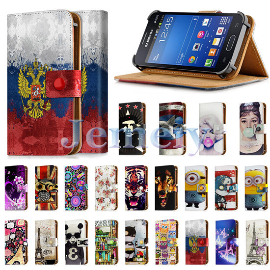 """Printed Universal Case For Samsung Galaxy Star Plus GT-S7262 4 inch, PU Leather Skin Wallet Cover Flip Stand Case For S7262 4""""(China (Mainland))"""
