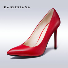 BASSIRIANA 2016 New High-heeled Shoes Woman Pumps Wedding Shoes Fashion Sexy Women Shoes Classic Black High Heels(China (Mainland))
