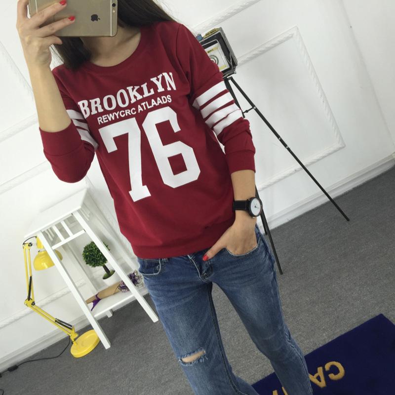 Sudaderas 2015 Fashion Harajuku Style Hoodies Sweatshirt Truien Women Crewneck BROOKLYN 76 Printed Hoody Tracksuit Chandal Mujer