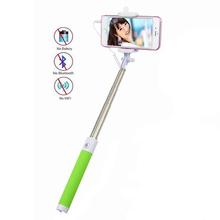 Universal extensible de mano monopie palo autofoto cable para el iphone samsung htc lg