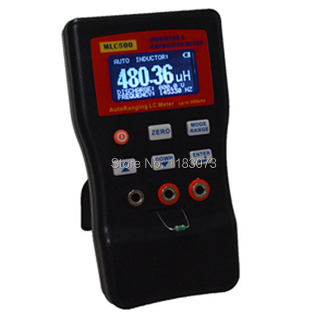 High Precision Digital Capacitance Inductance Meter Auto-ranging Component Tester 500KH LC RC Oscillation Inductance Multimeter(China (Mainland))