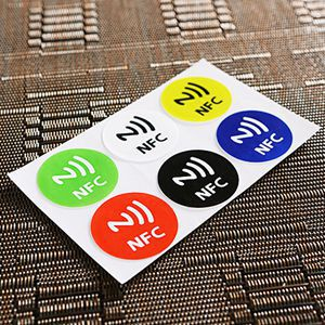 Hot Sale 6PCS Waterproof NFC Tag Stickers RFID Adhesive Label for Samsung iPhone 6 plus Universal With Low Price(China (Mainland))