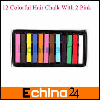 Hot Temporary Hair Color Dye Pastel Chalk Bug Rub hair colorchalk 12pcs/pack Free Shipping