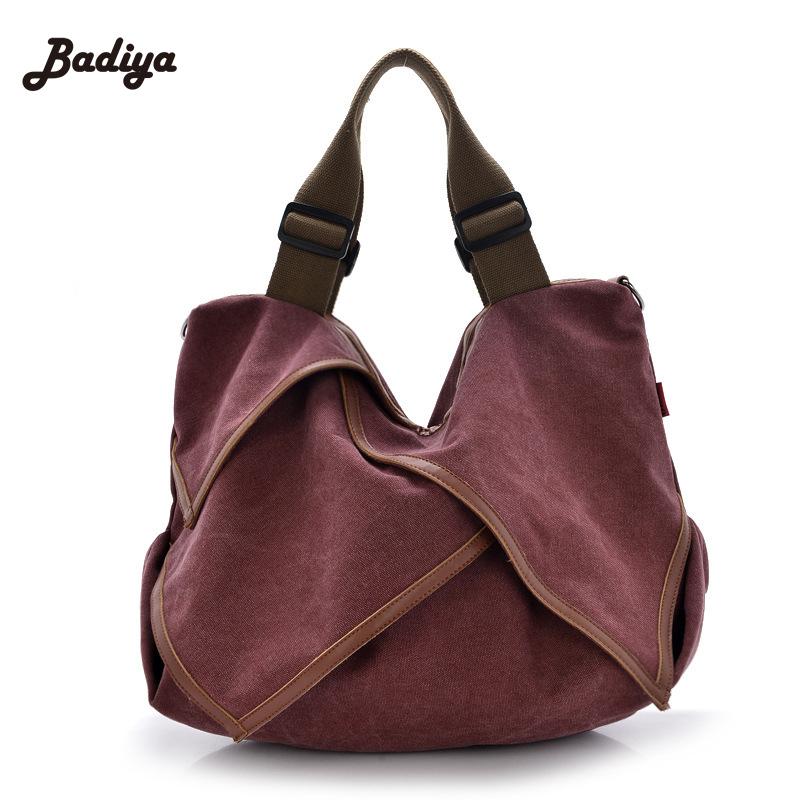 2016 New Fashion Women Daily Handbag Adjustable Straps Shoulder Ladies Bags Top Designer Bag Lotus Leaf Vintage Canvas Tote Bag(China (Mainland))