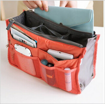 2014 New 13 Colors Make up organizer bag Women Men Casual travel bag multi functional Cosmetic Bag storage bag in bag Handbag(China (Mainland))