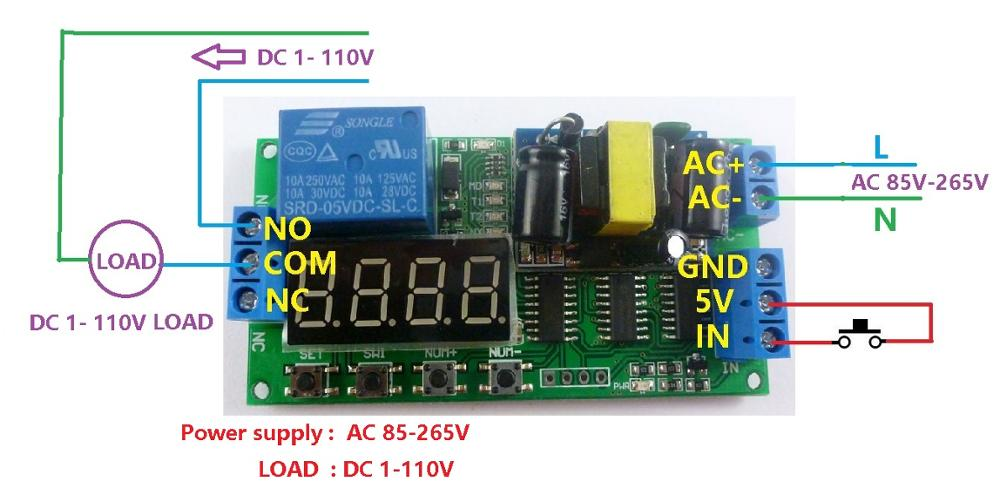 110v Ac Cycle Time Timer Switch Delay Relay On Off Repeat 1