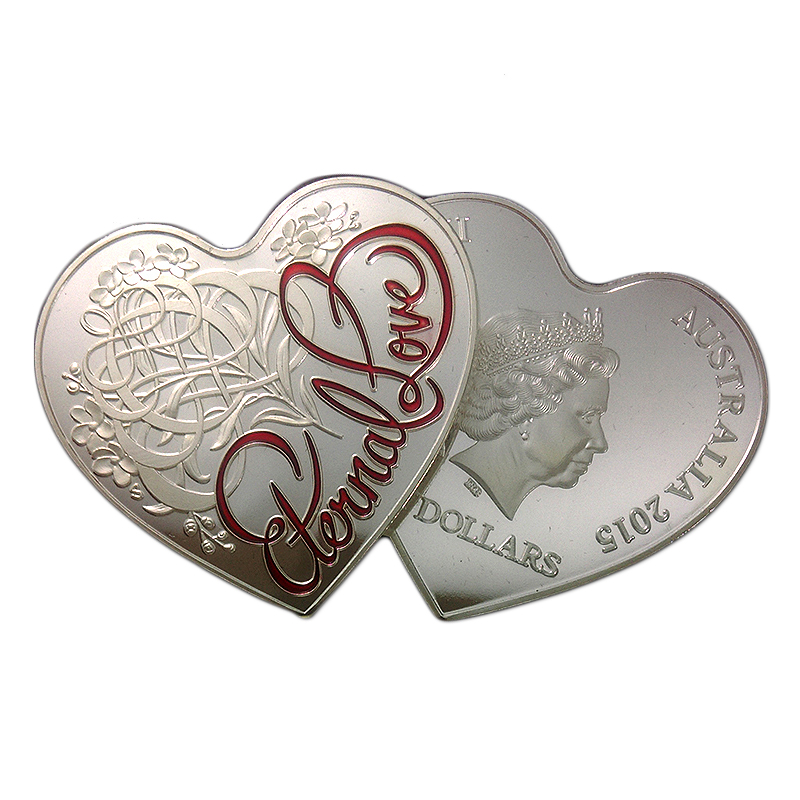 lot,Heart Shape Eternal Love Forever 5 dollars Wedding Gift Australian ...