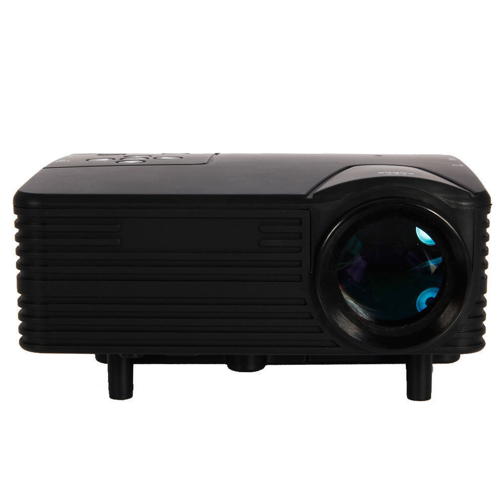 80 lumens mini projector portable led home cinema theater for Portable projector for laptop