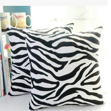 black and white zebra pillow cushion