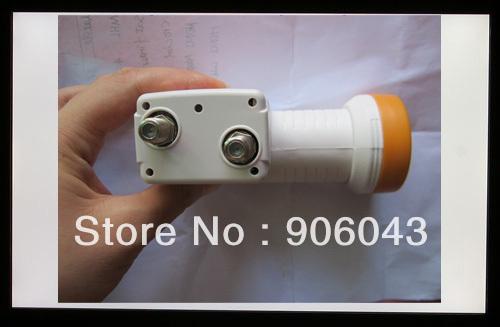 Wholesale 4pcs/lot super hd twin lnb, universal LNB , 0.1db lowest Noise Figure LNB ku band,durable lnb for antenna,satellite
