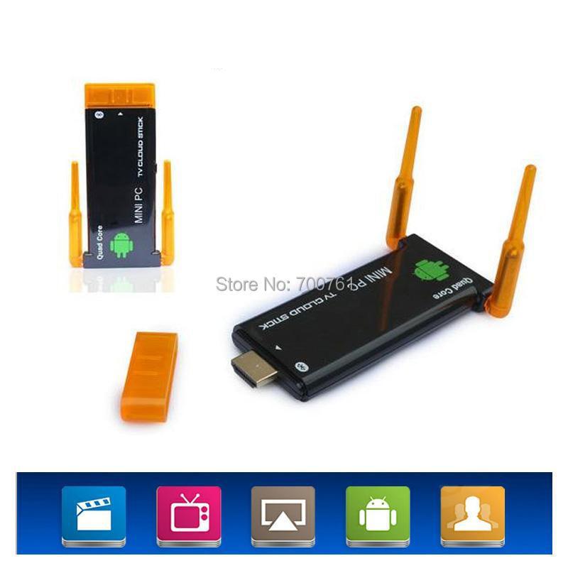 Quad Core RK3188 Android 4.2 Mini PC 2GB RAM 8GB ROM with Dual Wifi Antenna HDMI TV Dongle TV Stick Bluetooth wifi HD player(China (Mainland))