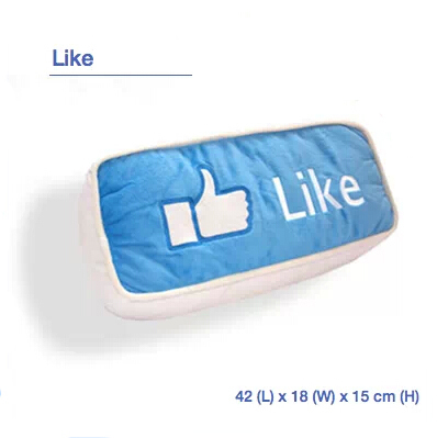 Christmas Gift Facebook Like Print Pillow Cover .Free Shipping(China (Mainland))
