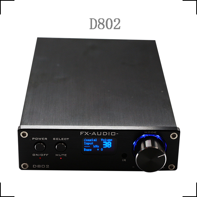 2015 fx-audio FeiXiang D802 2x80W 192KHz Coaxial/Optical/USB ClassD Digital Remote Power Amplifier Free shipping(China (Mainland))