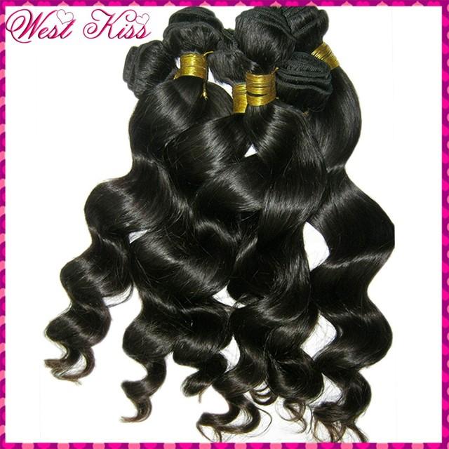 WestKiss Filipino loose Spiral Curl Wavy Virgin Weave Thick 4 bundles Admire RAW Bouncy Blossom Bundles