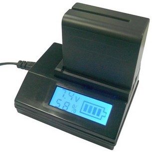 LCD Camera Battery Charger Digital Quick Charger For Sony NP-F550 NP-F770 NP-F970(China (Mainland))