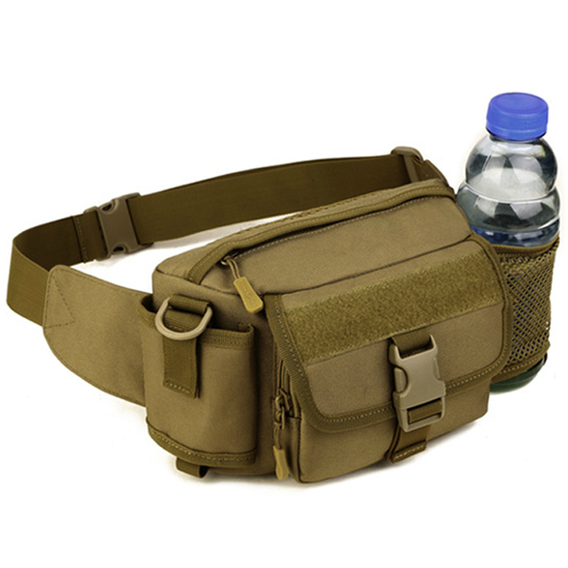 Tac tical Waist Bag Fanny Pack EDC Molle Military Equipment Belt Bag Men Sp ort Runn ing Bag Tac tical Pouch Bag 709(China (Mainland))