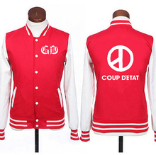 Buy Bigbang GD g-dragon coup d'etat baseball jacket fleece men women single breasted kpop lovers sportwear outwear vip plus size for $20.14 in AliExpress store