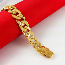 24K Gold Bracelets,2014 New Fashion,24K Link Chain Fastness Bracelet,Exquisite 24K Jewelry,Free Shipping,Wholesale C039(China (Mainland))