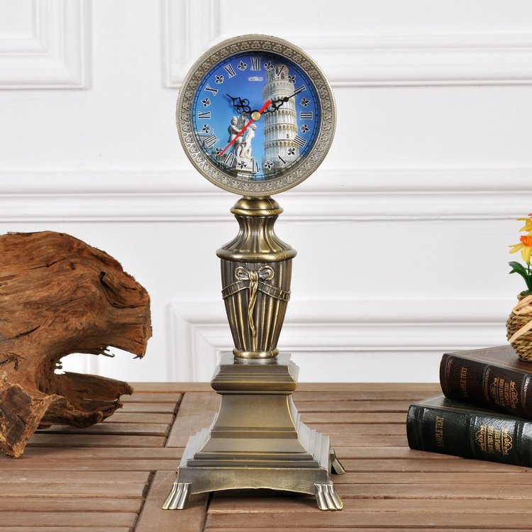 Annabel European high-grade metal clock watch clock for home decoration antique table clock New Star of Hope(China (Mainland))