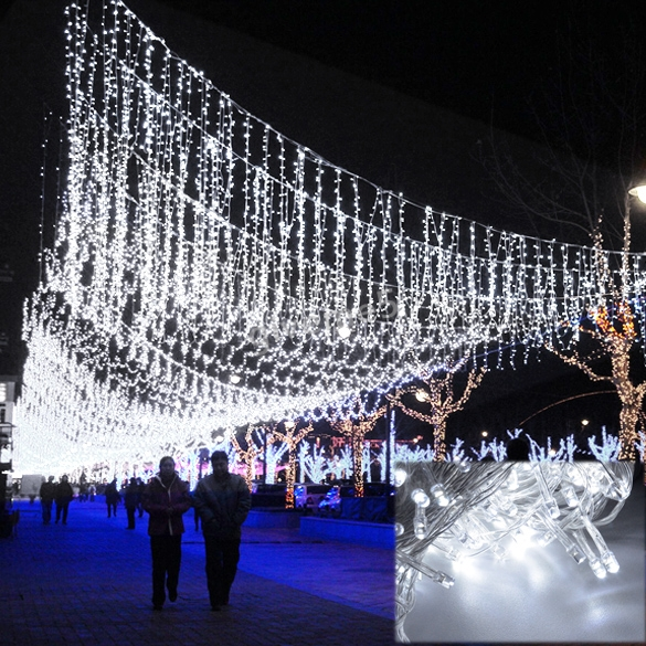50M 300 LED White Decorative Wedding Fairy LED Christmas Lights Outdoor Party Twinkle String Lights EU Free Shipping #(China (Mainland))
