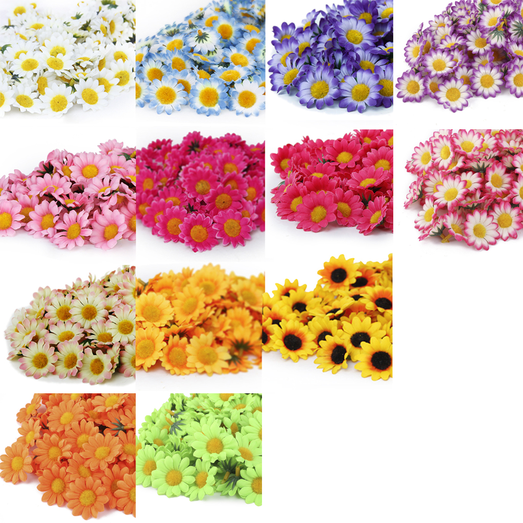 Wholesale 100x Silk Artificial Gerbera Daisy Flowers Heads for DIY Wedding Home Decration Light Pink Fack Decorative Flowers(China (Mainland))