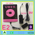 Uber el flashing car sticker luminous car sticker with DC3V inverter in car free shipping new