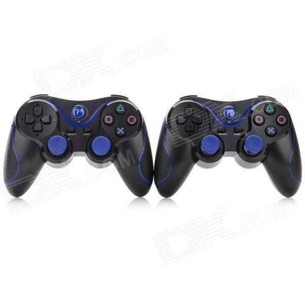 2pcs Double Shock Wireless Bluetooth V4.0 Controller Sixaxis Joypad Joystick Gamepad For Sony PS3/ PS3 Slim(China (Mainland))