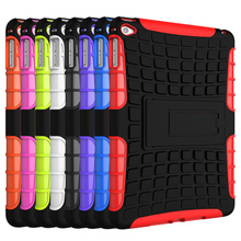 """Tyre Style Duty Armor TPU+PC Tablet Cases For Apple iPad Mini 4 iPad Mini4 iPad Mini IV 7.9"""" Cases Cover With Kickstand(China (Mainland))"""