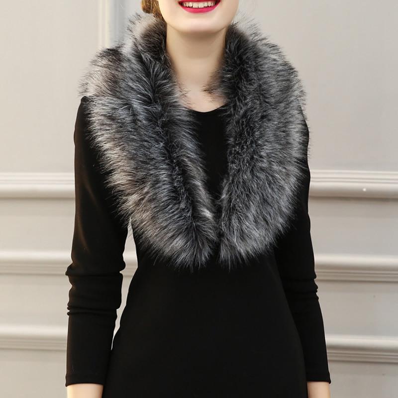 2017 Hot Sale Brand New Women Winter Fur Scarves Handmade Elegant Fake Rex Rabbit Fur Scarf Wrap Natural Fur Warm Shawls Winter