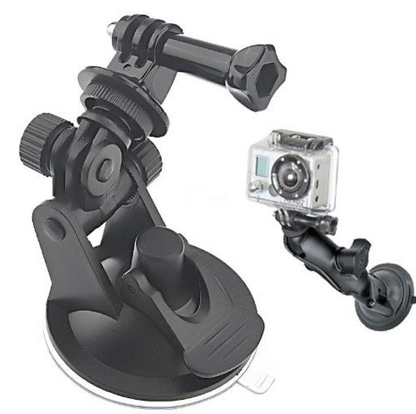 GoPro Car Suction Cup Adapter Window Glass Tripod + 7CM Diameter Base Mount For Gopro Hero 3 2 Hero3 Camera Go Pro accessories()