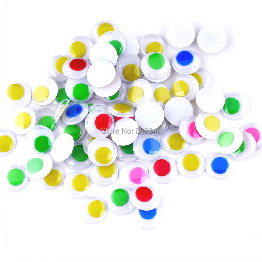 Free Shipping 300pcs/lots 15mm MIX Color Eye Activities Moving Plastic Eyes For Doll Toy Scrapbook(China (Mainland))
