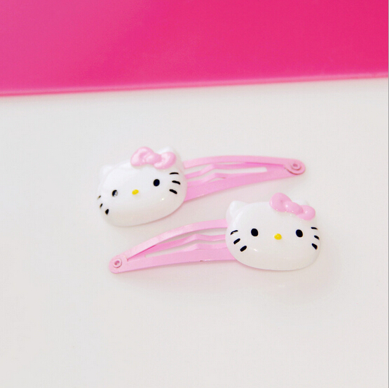 2015 Baby girl's summer style cute hello kitty hairpin headwear hair accessories for children make kids fashion lovely(China (Mainland))