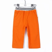 Summer Candy Color Child Pants All-match Boys Girls Clothing Baby Kids Knee Length Trousers 2010(China (Mainland))