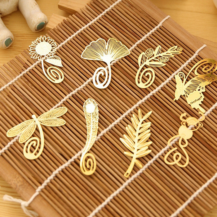 Free shipping cute book mark Bookmark cutout chinese style metal gift nervure bookmark monkey wheat dragonfly butterfly bookmark(China (Mainland))