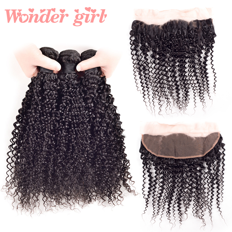 peruvian kinky curly virgin hair with closure 5pcs ear to ear lace frontal closure with bundles human hair 4bundles with closure<br><br>Aliexpress