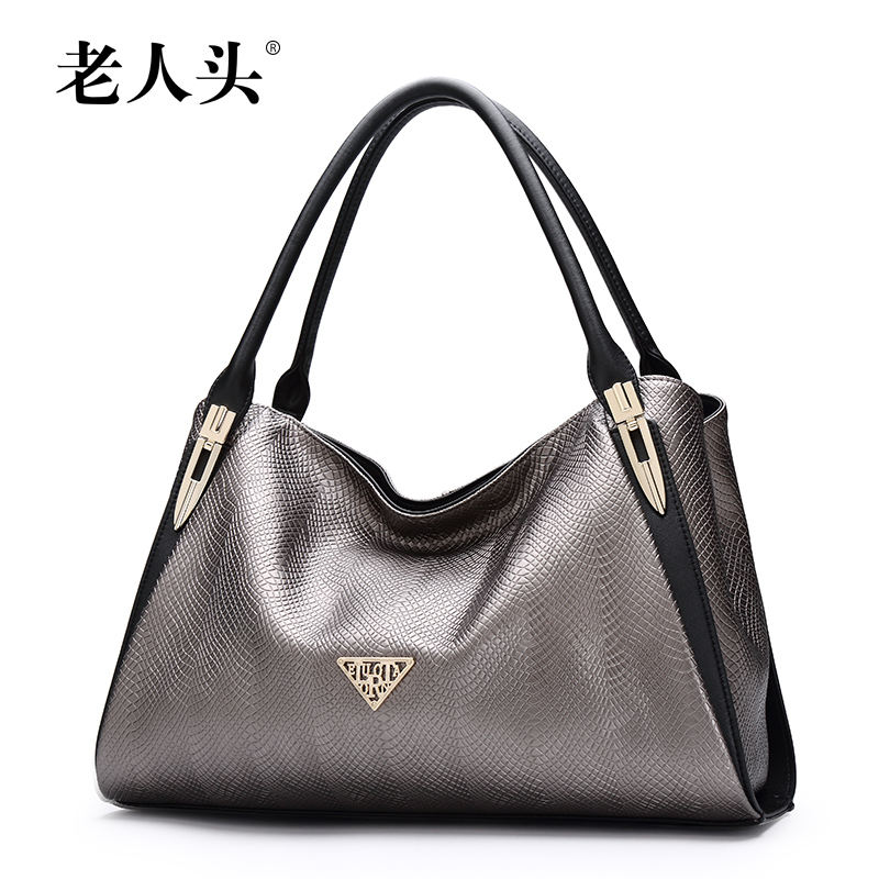 Фотография 2016 New LAORENTOU quality genuine leather women bag famous brands fashion Embossing women handbags shoulder cowhide Killer bag