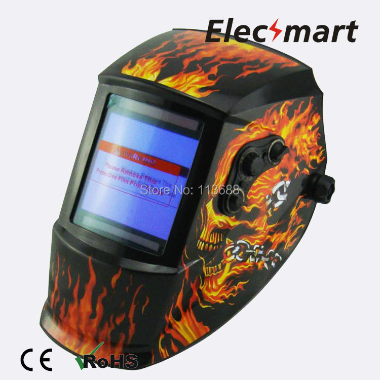 El charro de las calaveras auto darkening welding helmet TIG MIG MMA electric welding mask/helmet/welder cap/lens for welding(China (Mainland))