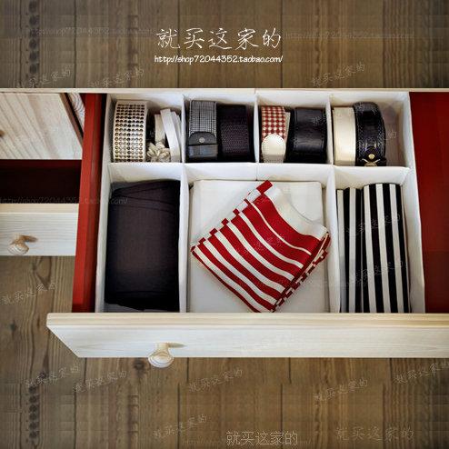 Underwear panties socks tie storage box goods sorts box collecting box home storage bins 1pc/lot(China (Mainland))