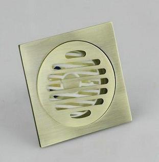 e pak8717 Construction Real Estate Fashion Ross Antique Brass Grate Floor Register Waste Drain 4 x