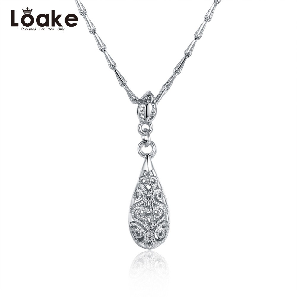 loake silver plated fashion pendant necklace for women gift accessories pendant jewelry snake chain