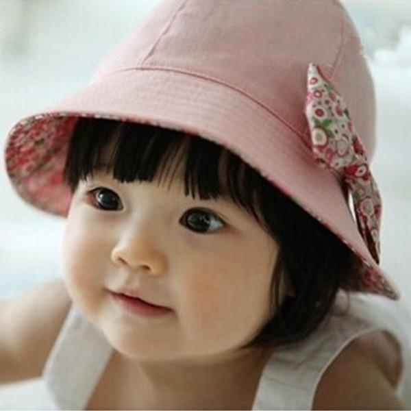 Summer Baby Infant Lace Floral Bowknot Floral Bonnet Hats Sun Hat Bucket(China (Mainland))