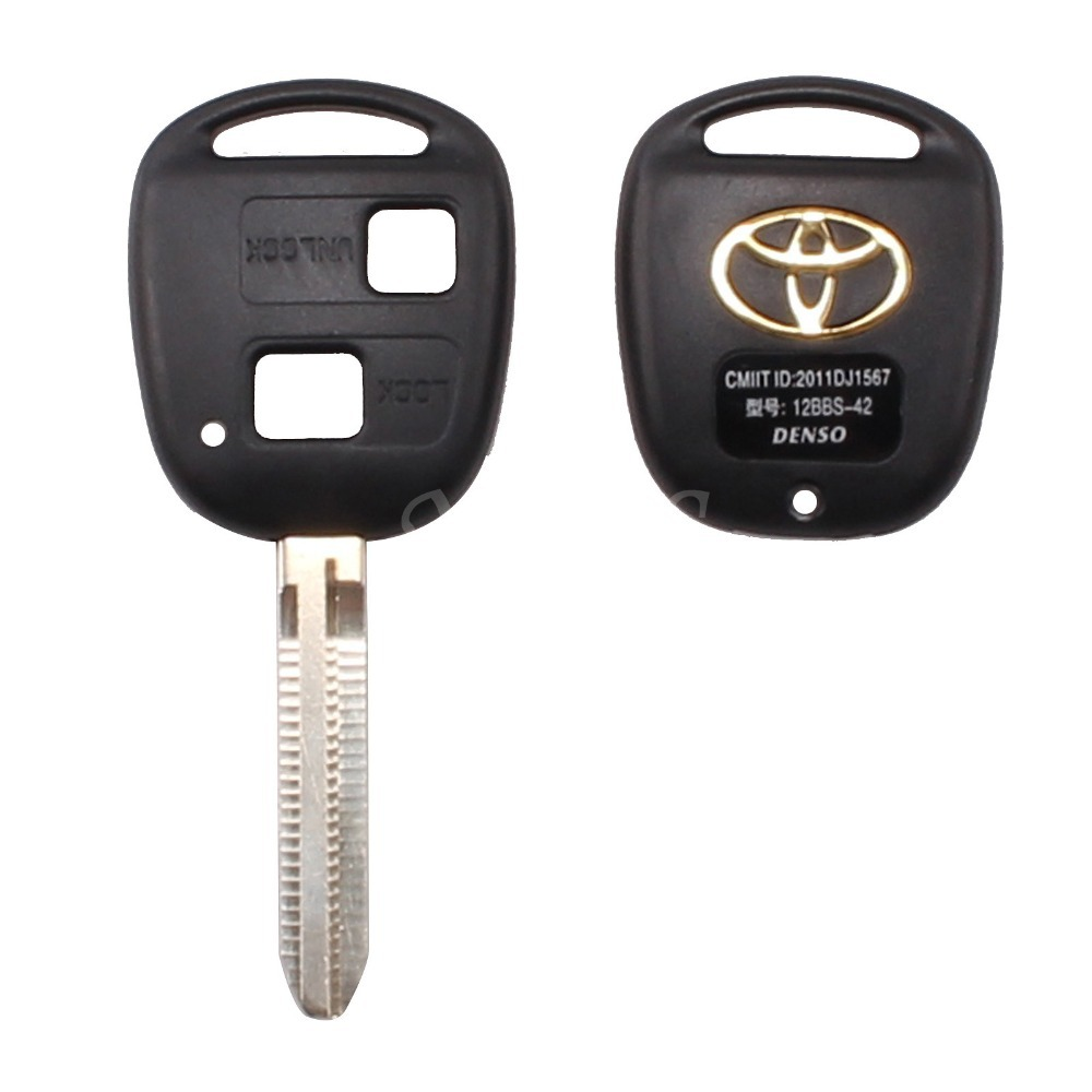 2 BUTTON REMOTE KEY FOB CASE FOR TOYOTA CAMRY RAV4 PRADO COROLLA TARAGO AVENSIS AVALON EHCO